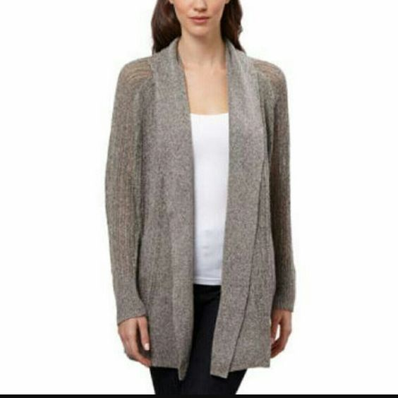 RACHEL ZOE CARDIGAN Beautiful gray oversized cardigan is a staple in anyones closet, get this hot designer piece for a fraction of retail. Poly/linen/cotton blend fibers. Rachel Zoe Sweaters Cardigans