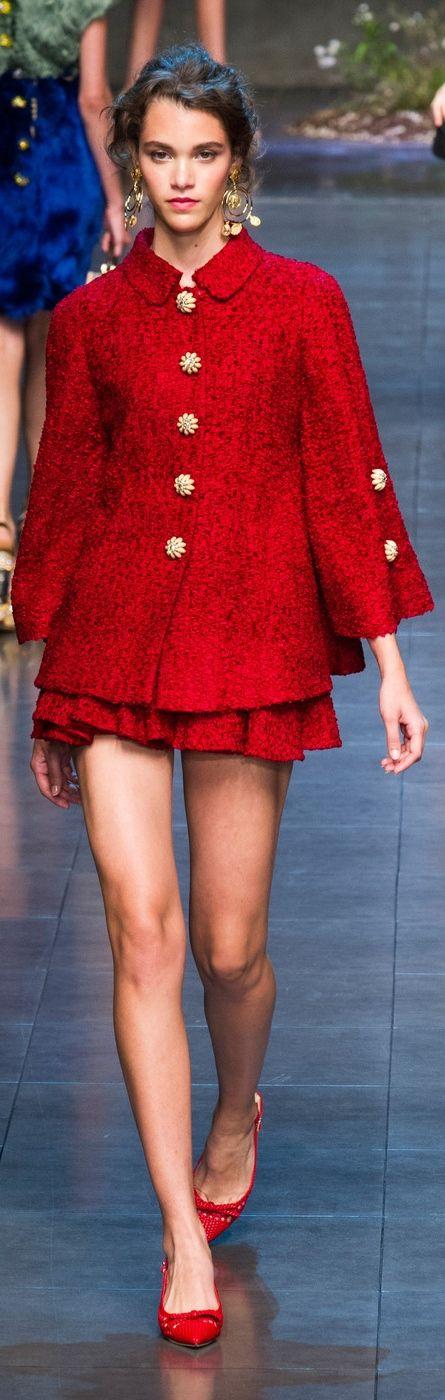 Dolce Gabbana at MFW Spring 2014