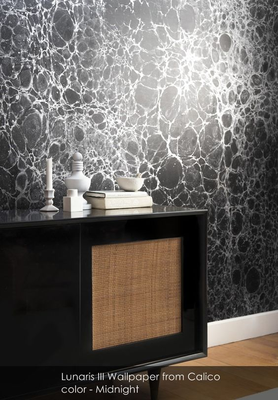 Lunaris III wallpaper from Calico in Midnight