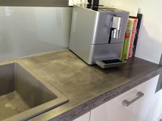 Concept Beton Arbeitsplatten Küche Pinterest - küchenarbeitsplatten online kaufen