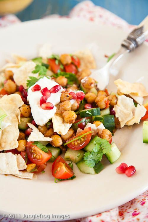 Chana Chat. Indian Spicy Salad.