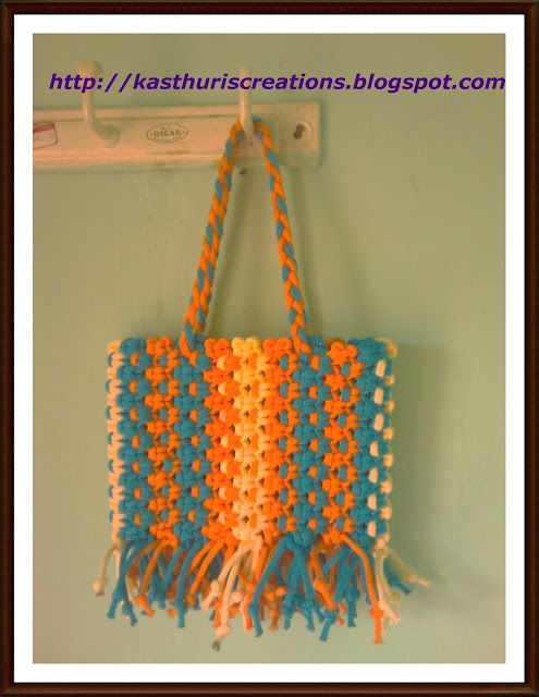 Macrame Bag made by MaNiKa Really cool looking bag