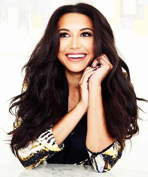 ((FC: Naya Rivera)) Hey, I'm Naya. I was on Glee. I was the bitch Santana. I love to sing and dance. 21, single. Introduce?