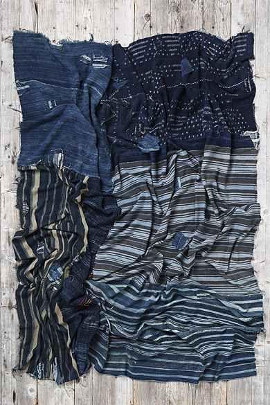 Vintage Patched-Indigo Blanket
