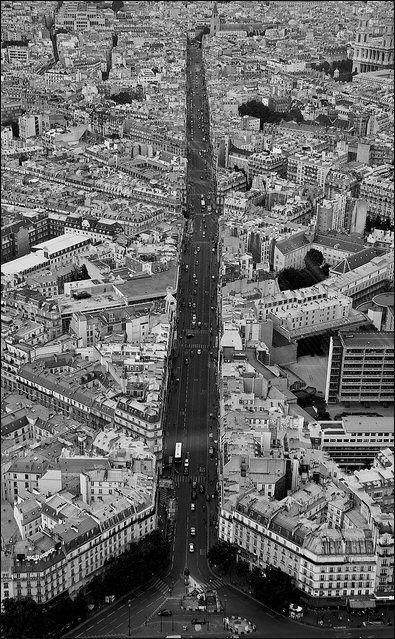 rue de Rennes - Paris 6ème ... La rue de Rennes vue depuis la Tour Montparnasse.