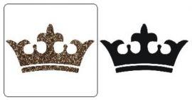Sjabloon Glittertattoo `Kroon` 2