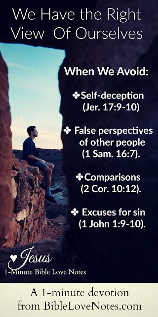 This 1-minute devotion reveals four Scriptural warnings against a false self-image and offers Biblical advice for avoiding them.