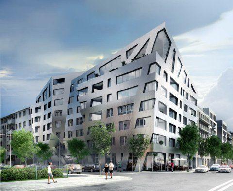 Die Chausseestraße in Berlin-Mitte entwickelt sich weiter. Der US-amerikanische Architekt Daniel Libeskind baut sein erstes Wohnhaus in #Berlin. Das Haus soll einem Saphir ähneln und Platz für 73 Wohnungen bieten. Mehr Infos zum Projekt unter: http://www.sapphire-berlin.com