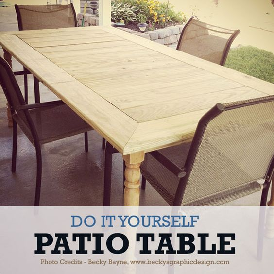 Do it Yourself Patio Table Furniture Upcycling (I'm not too crazy about the table legs, but I like the top...)