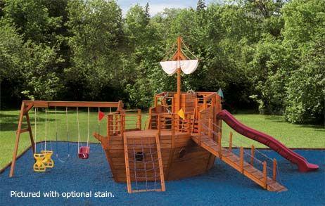 Backyards, Pirates and Swing set plans on Pinterest