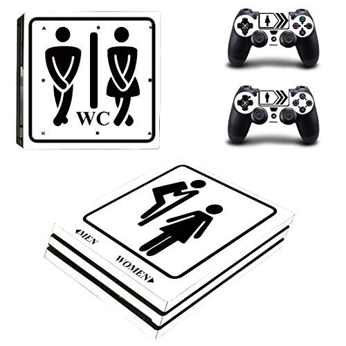 Protective Vinyl Skin Decal Cover For Sony Playstation 4 Pro Ps4