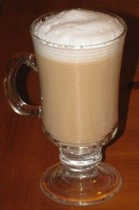 Skinny Almond Latte- strong coffee, milk, vanilla & almond extracts, and a touch of sugar... and just 47 calories!: