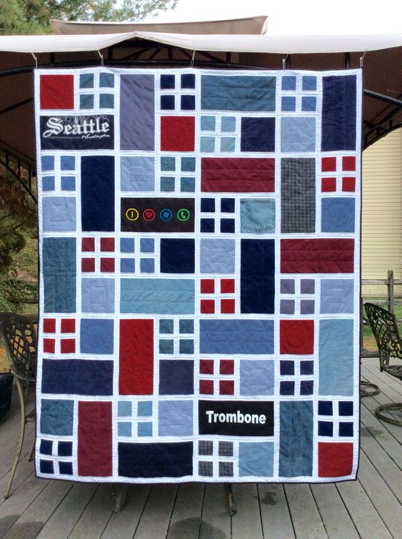 Memory Quilt from clothes and T-shirts