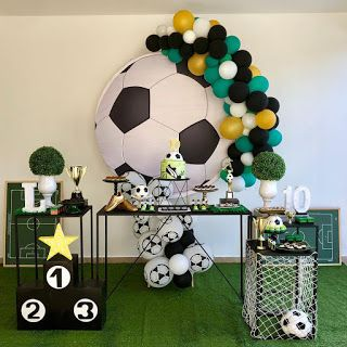 Festa infantil: 10 anos com tema futebol! - Guia Tudo Festa - Blog de Festas - dicas e ideias!
