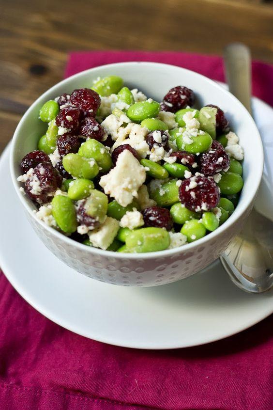 Love and Zest: Edamame, Cranberry, & Feta Salad