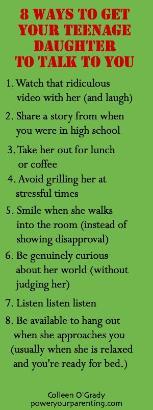 8 Ways to Get Your Teenage Daughter to Talk to you.