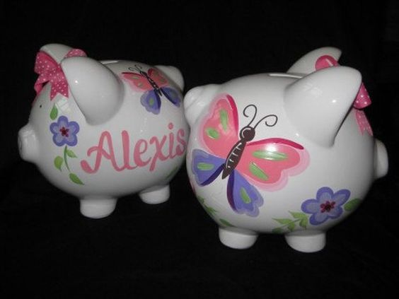 a customized piggy bank gifts for newborns and babies keepsakes