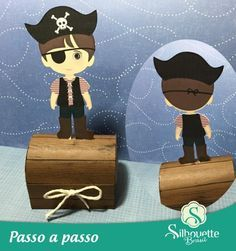 free studio cut file DIY FOR LIMITED TIME Pirate Chest favour and pirate boy| Silhouette Brazil - Blog download from Facebook page.