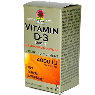 Nature's Answer Liquid Vitamin D-3 4000iu (1x.5 Oz)