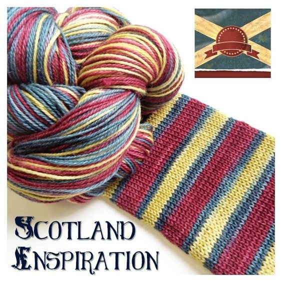 Bis-sock yarn Scotland inspiration self-striping hand-dyed yarn ...