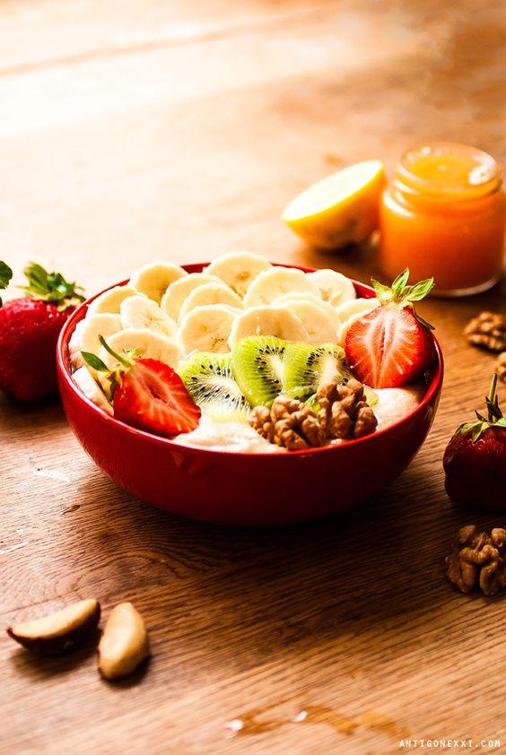 Porridge aux fruits vegan (délicieux !) - Avec ou sans gluten... A essayer en moment de compétition!!!