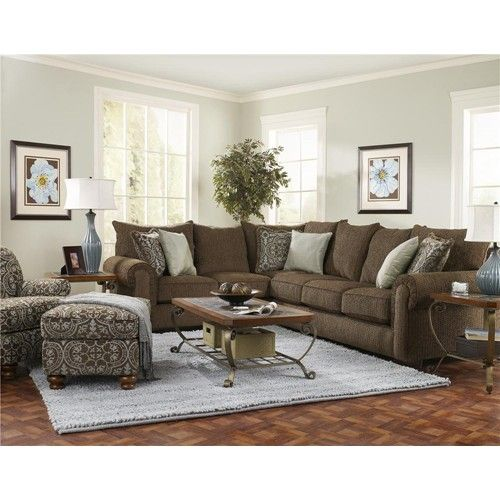 Furniture love the and living rooms on pinterest - Living room color schemes red couch ...