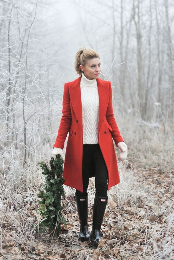 coat / płaszcz – Zara (stara kolekcja) Hunters / Huntery – Answear.com (do kompletu polecam...: