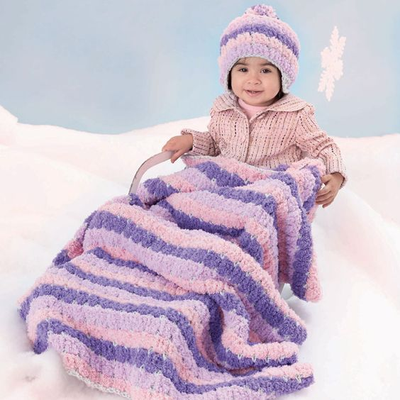 Crochet Pattern For Sports Blanket : Blanket crochet, Project projects and Babies on Pinterest