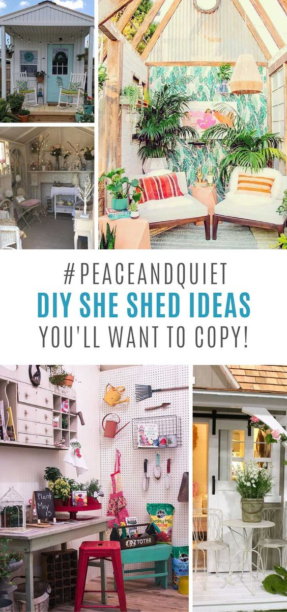 17 Fabulous She Shed Ideas You'll Want to Escape to!