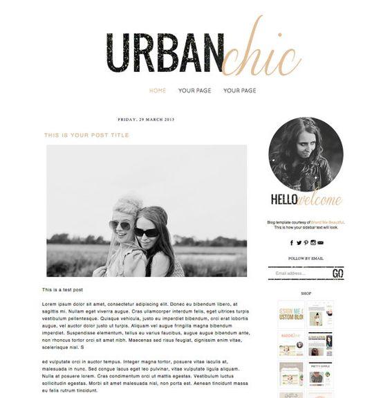 Premade blogger template blog design for di for Blog di design