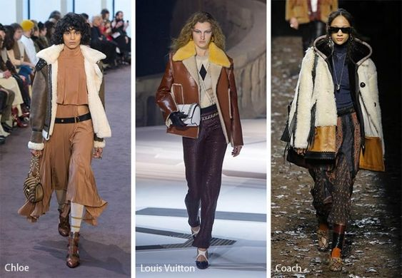 Fall/ Winter 2018-2019 Fashion Trends: Shearling Coats & Jackets