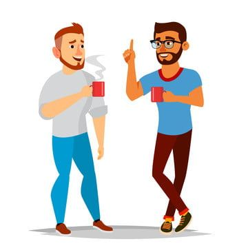 Talking Men Vector Laughing Friends Office Colleagues Communicating Male Meeting Conversation Analysis Concept Business Person Exchange Of Ideas Isolated Flat C In 2021 Man Vector Cartoon Illustration Business Person