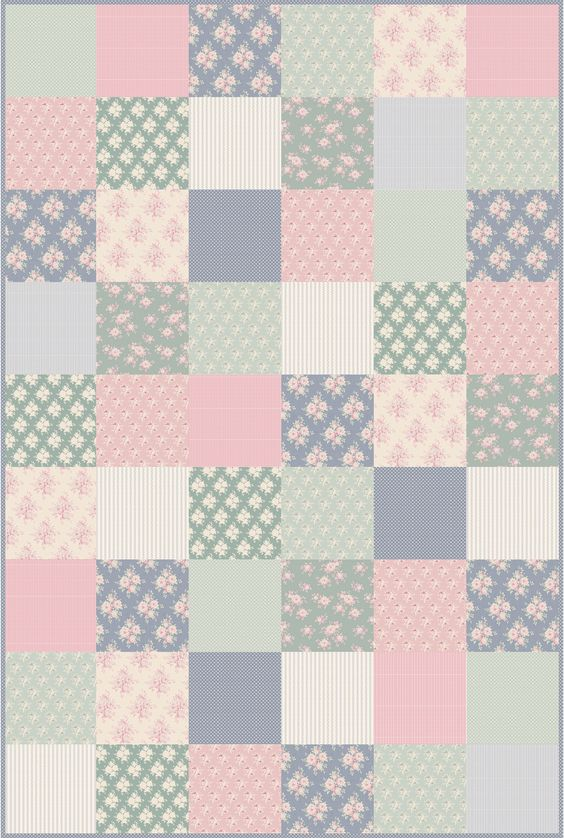 plaid tilda rose quilt en tissu fa on patchwork tissu couture patchwork pinterest t. Black Bedroom Furniture Sets. Home Design Ideas