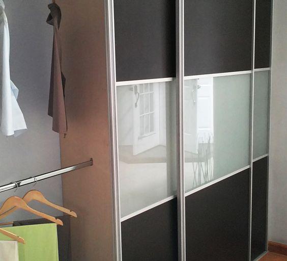 Perfil siena sistema de perfiles de aluminio para puertas for Ideas para puertas de closet