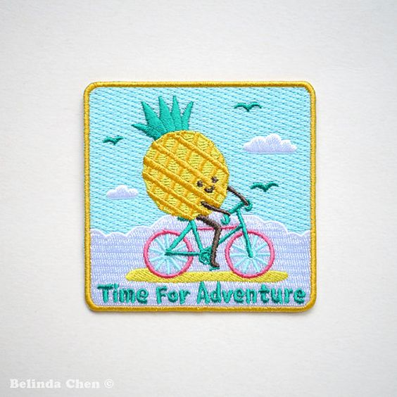 Time for adventure Pineapple Iron On Patch - Pre-order