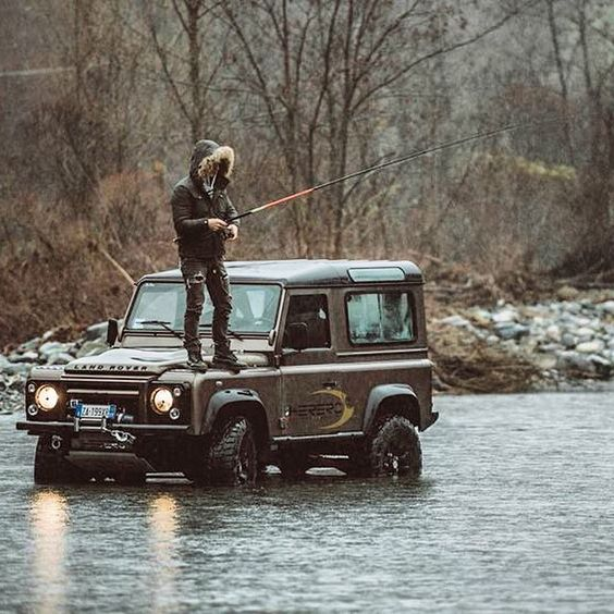 Forgotten waders? There's a Land Rover for that!