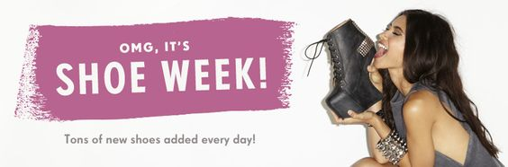 OMG, It's Shoe Week! you know you are inlove with some shoes!