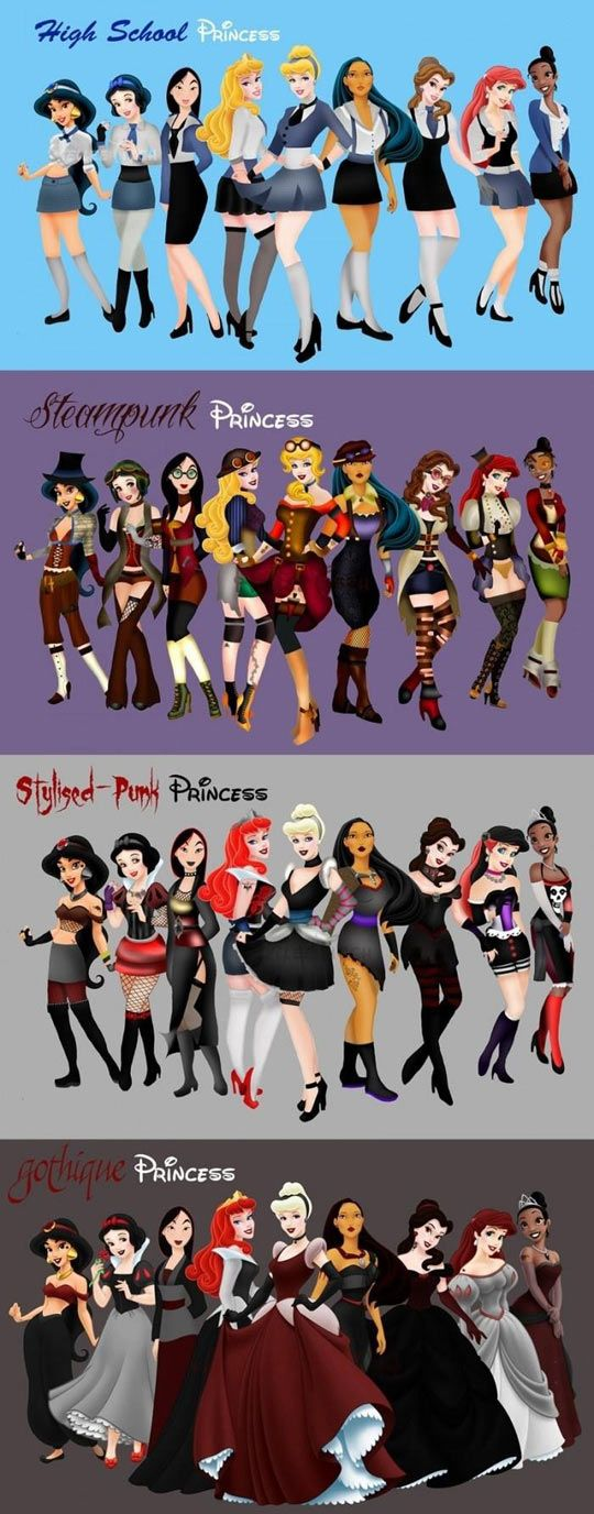 Disney Princesses Fashion: