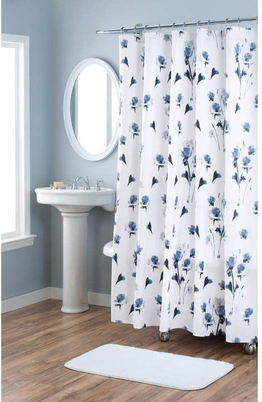 Nicole Miller Le Fleur Cotton Single Shower Curtain Designer