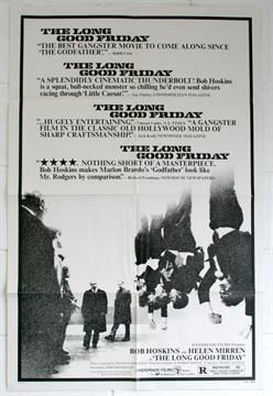 Lot 41 - Long Good Friday Film Poster, Bob Hoskins, USA 1981 issue One-sheet Folded, size 27 inches by 40