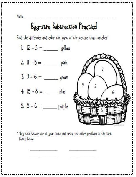 April's Learning Center- a worksheet after a Math lesson and have ...