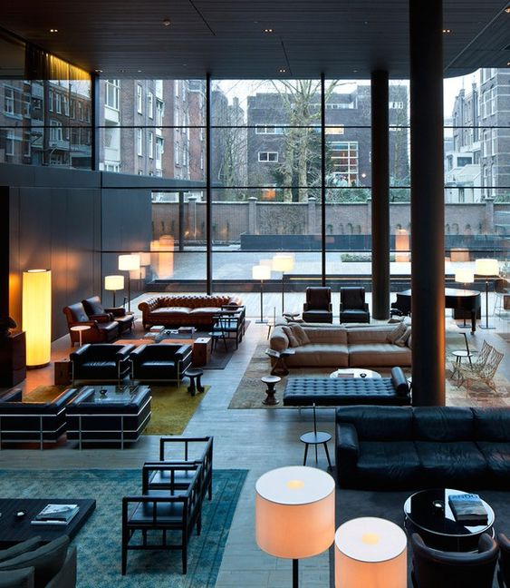 Around the worlds hotels in amsterdam and design trends for Hotel lobby design trends