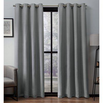 Langley Street Marnie Solid Room Darkening Thermal Grommet Curtain