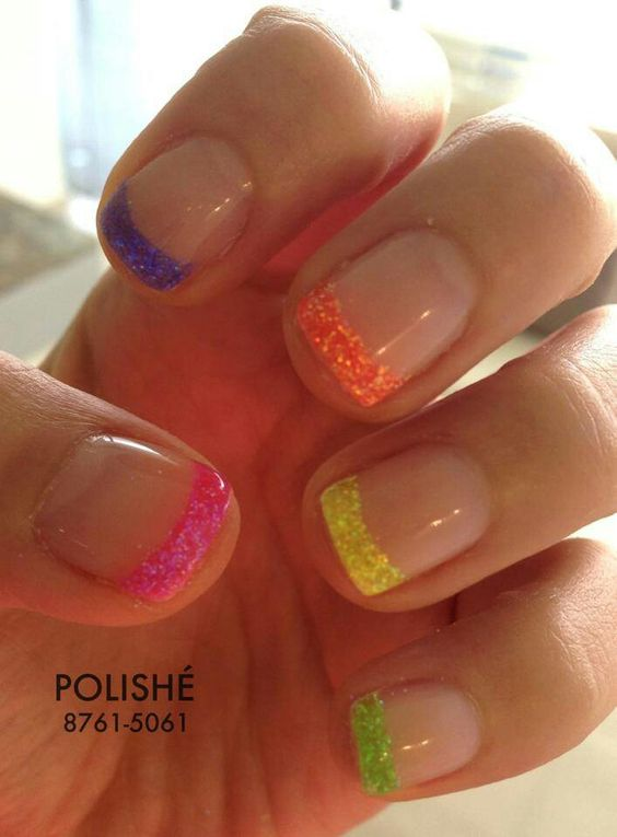french colorful nails