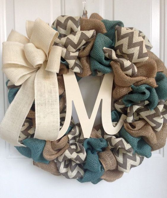 Burlap Wreath, Everyday Wreath, Burlap Everyday Wreath