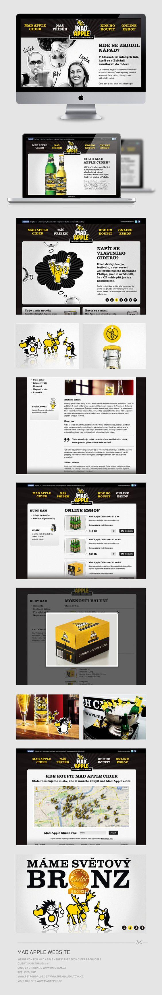 Mad Apple Cider Website on Behance