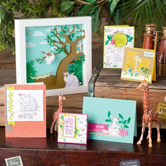 Stampin Up - Animal Expedition Designer Series Paper - examples - voorbeeld