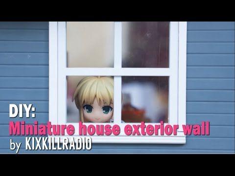 DIY Dollhouse - Miniature Kitchen Exterior Wall  -  PART 1
