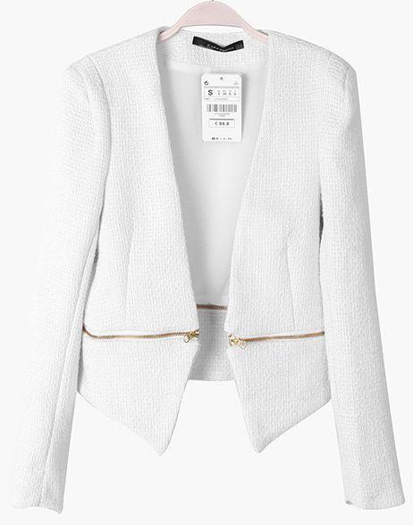White Boucle Jacket Blazer KATWear.com $19.85
