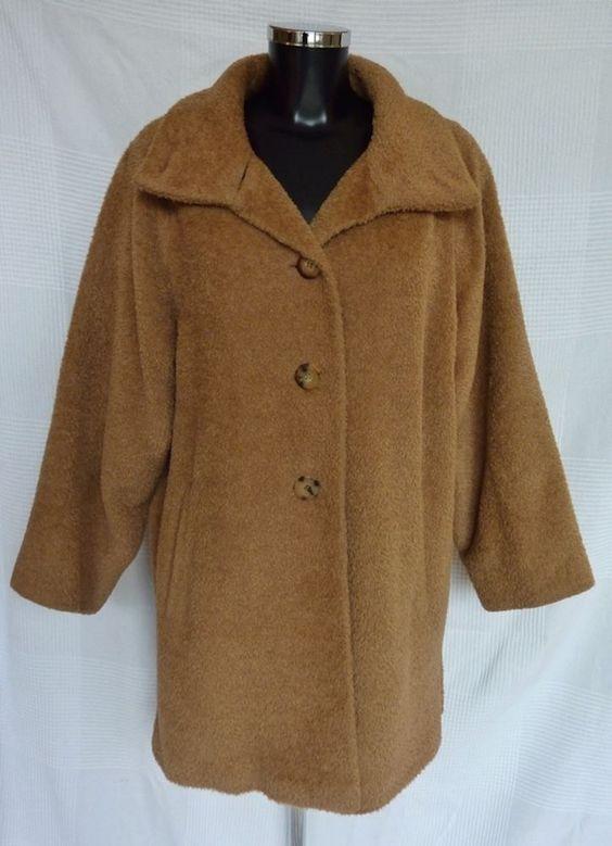 Manteau femme Marron / Camel MAX MARA en Alpaga et Laine Taille 38